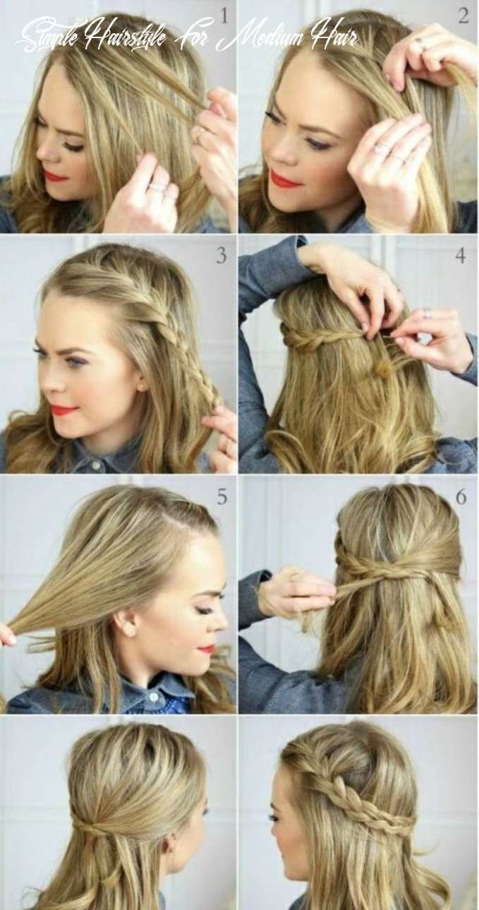 How do you make a simple hairstyle with medium length hair