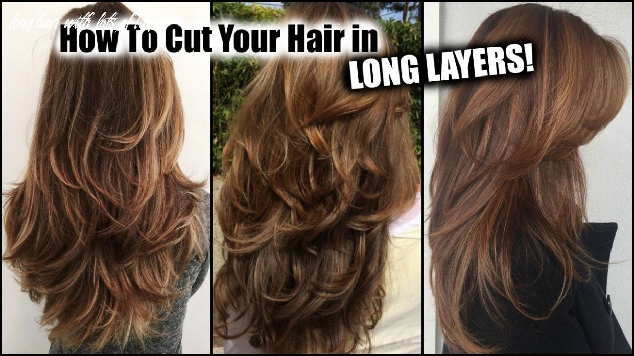 How i cut my hair at home in long layers! │ long layered haircut diy at home! │updated! long hair with lots of layers