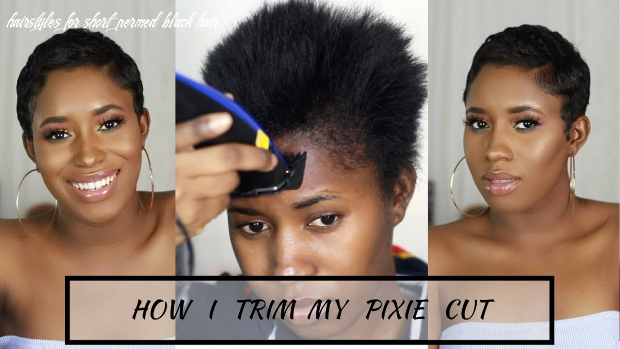 How i cut, relax & style my short hair at home|| pixie cut hairstyles for short permed black hair