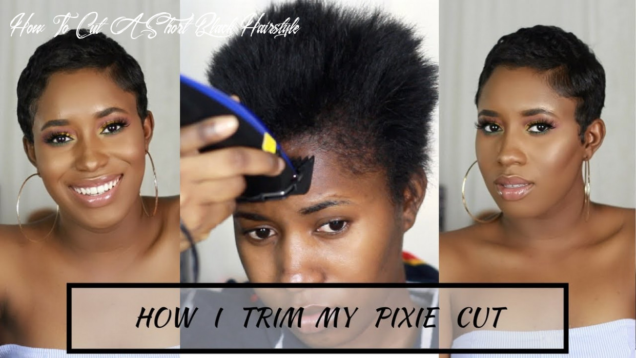 How i cut, relax & style my short hair at home|| pixie cut how to cut a short black hairstyle