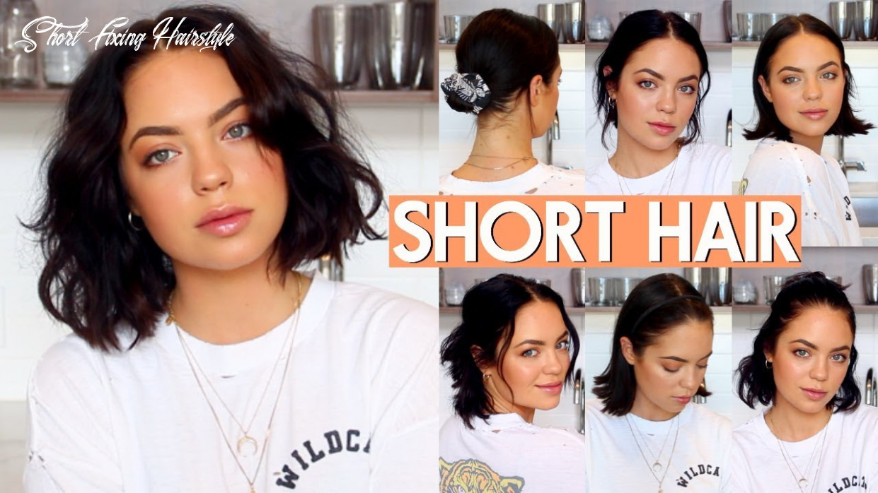 How i style my short hair! (very easy) short fixing hairstyle
