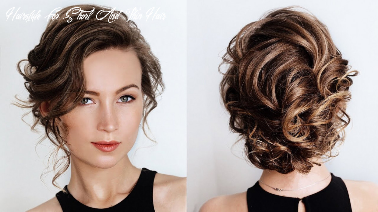 How to create volume with very short and thin hair with flat iron | how to style short thin hair hairstyle for short and thin hair