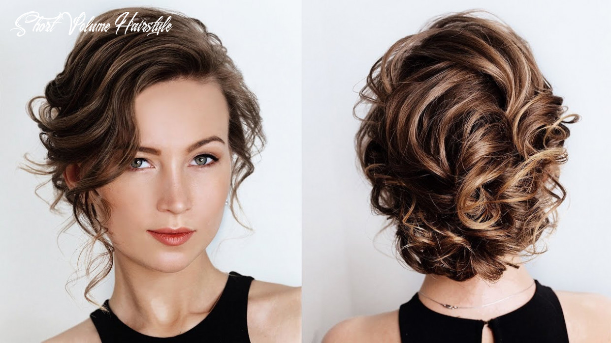 How to create volume with very short and thin hair with flat iron | how to style short thin hair short volume hairstyle