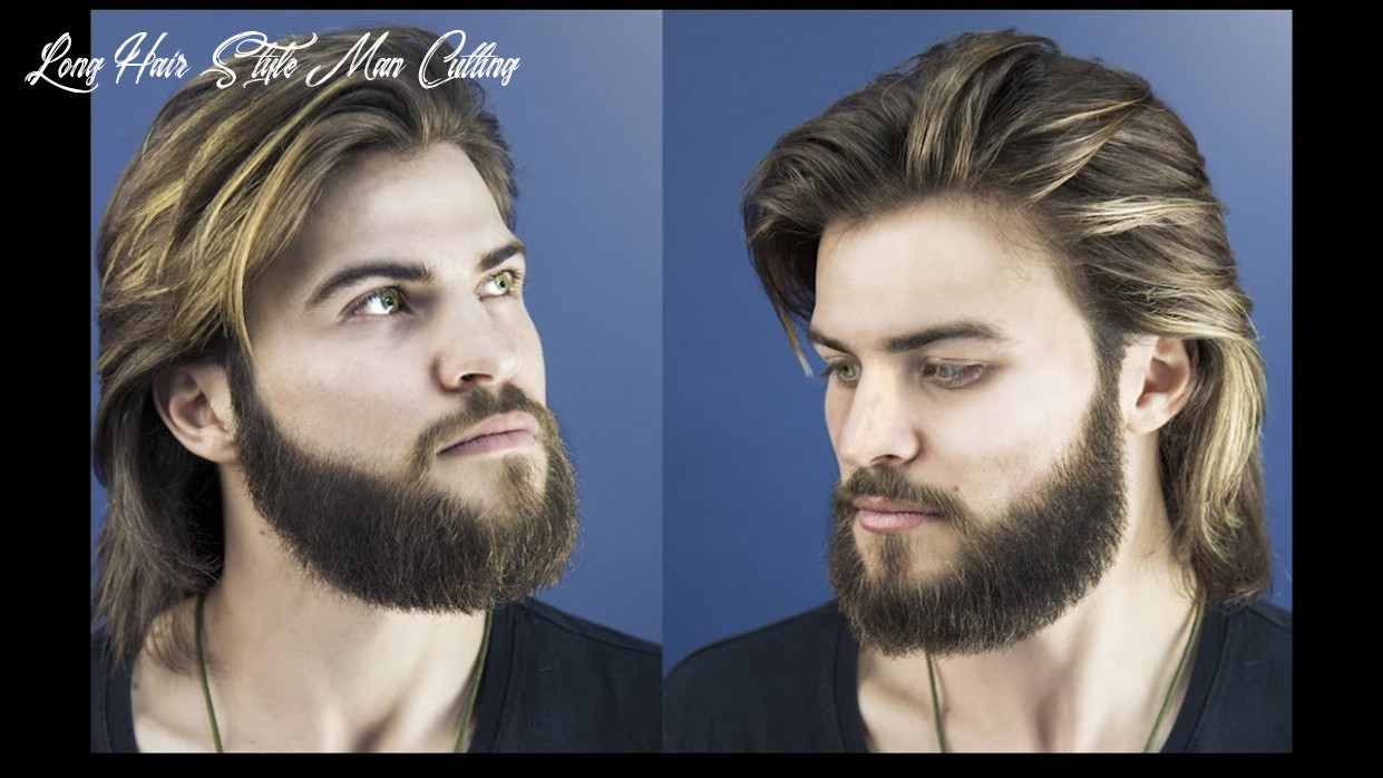 How to cut and style long hair for men collar length sweep back long hair style man cutting