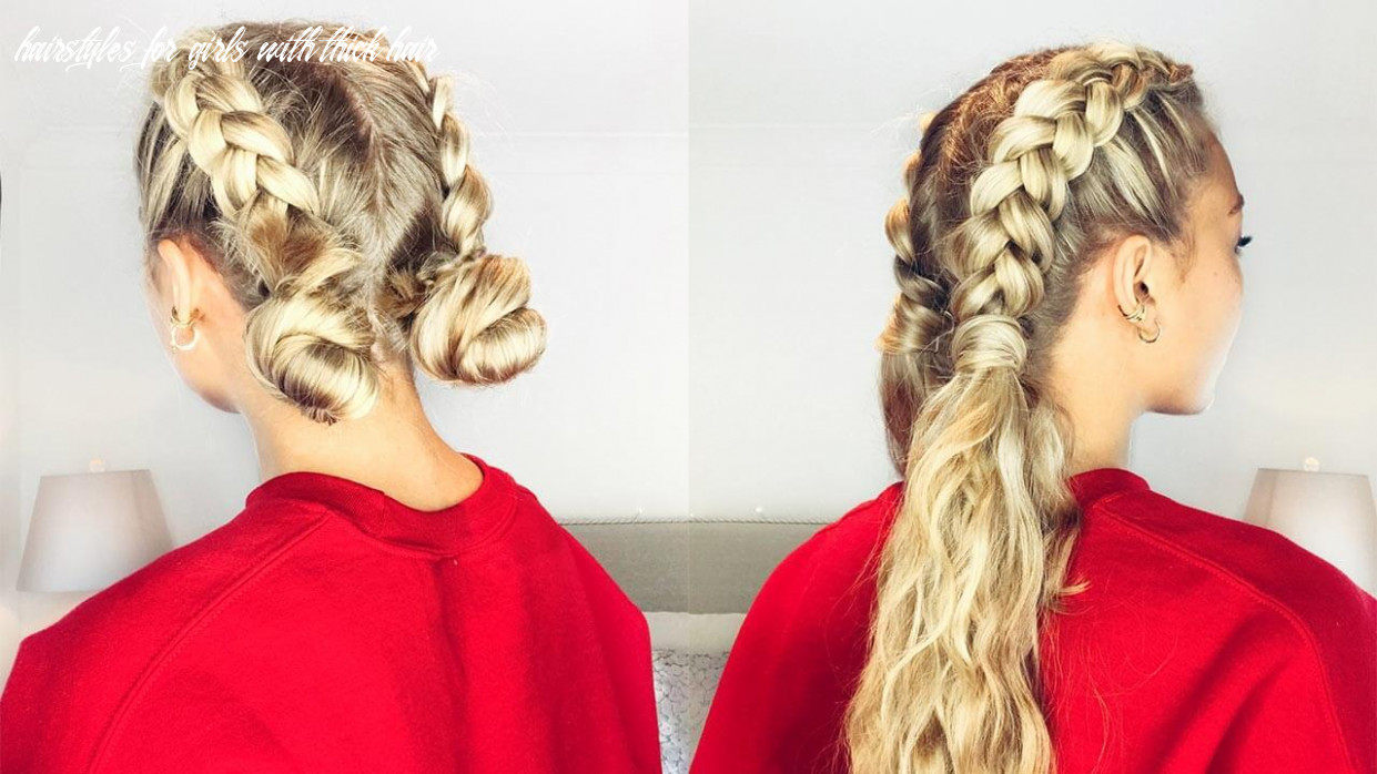How to deal with thick hair: 12 easy hairstyles hairstyles for girls with thick hair