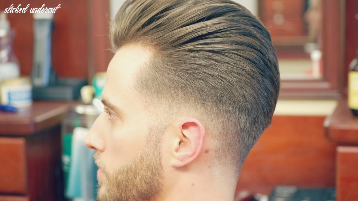 How to do an undercut with a slicked back pompadour slicked undercut