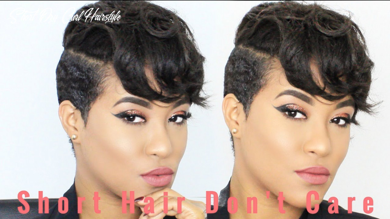 How to dry curl and style my short hair short dry curl hairstyle