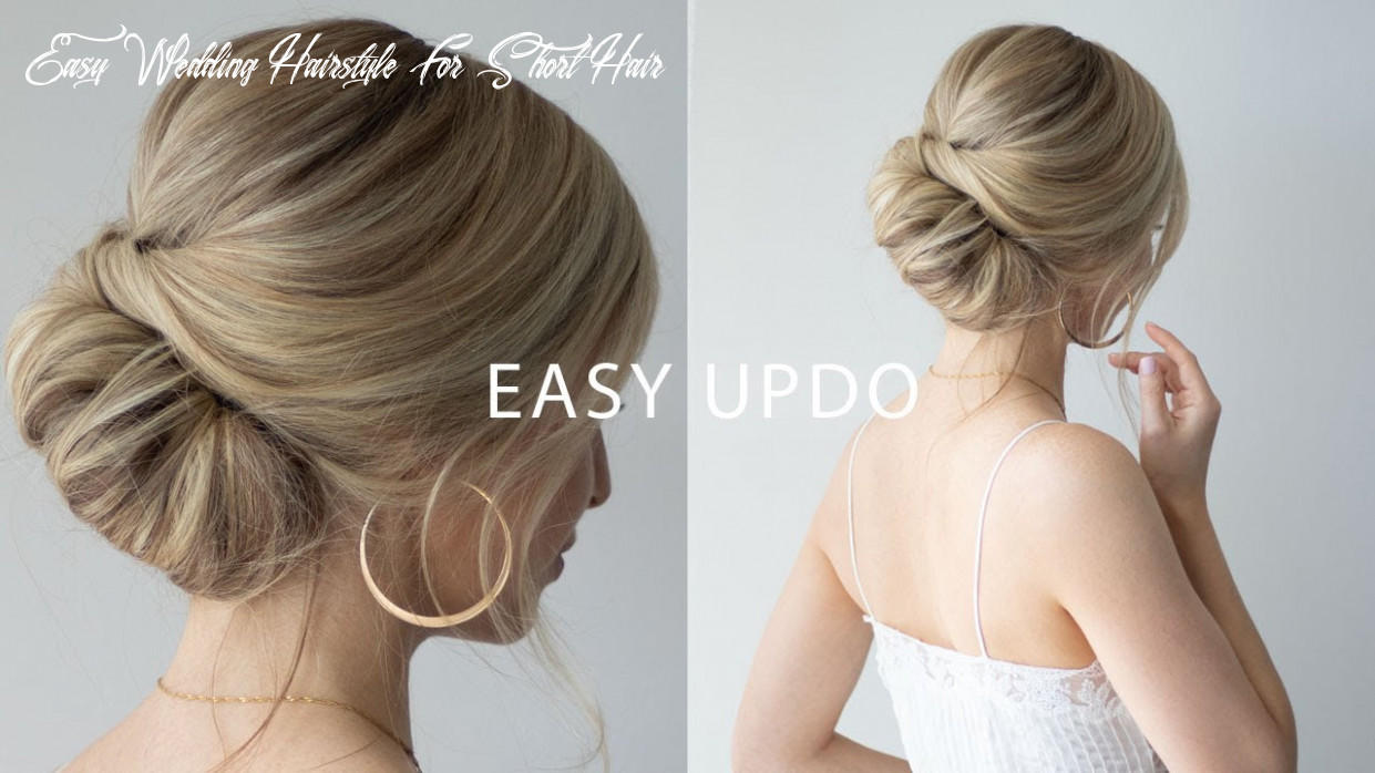 How to: easy updo for short hair 👰🏼perfect wedding hair, prom, formal