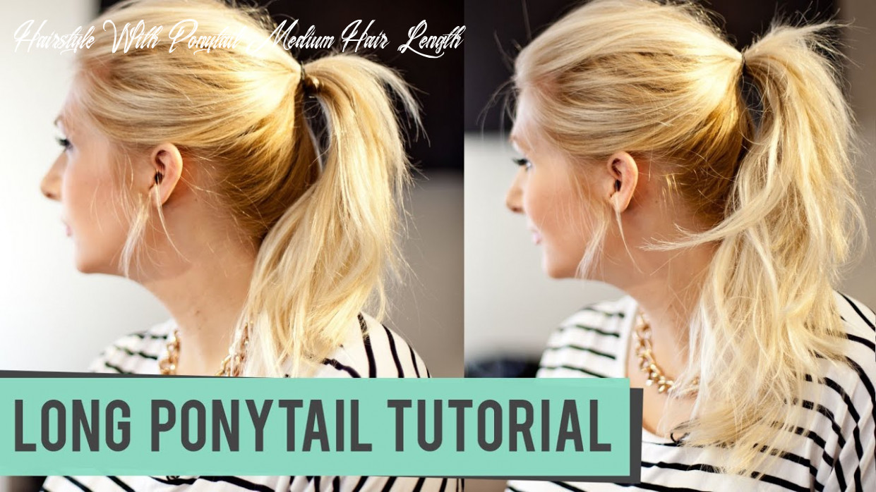 How to fake a longer pony tail for medium to long length hair hairstyle with ponytail medium hair length