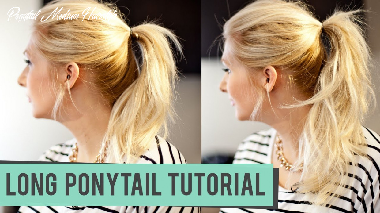 How to fake a longer pony tail for medium to long length hair ponytail medium hairstyle