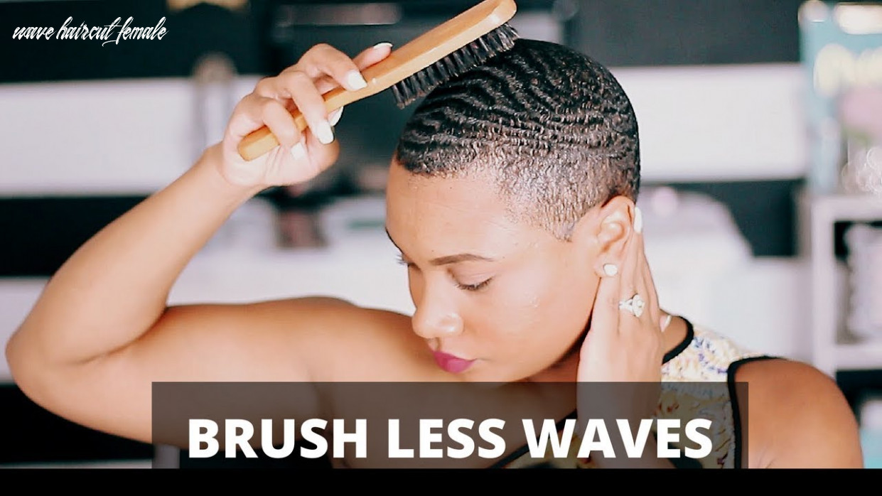How to get brush less waves! wave haircut female