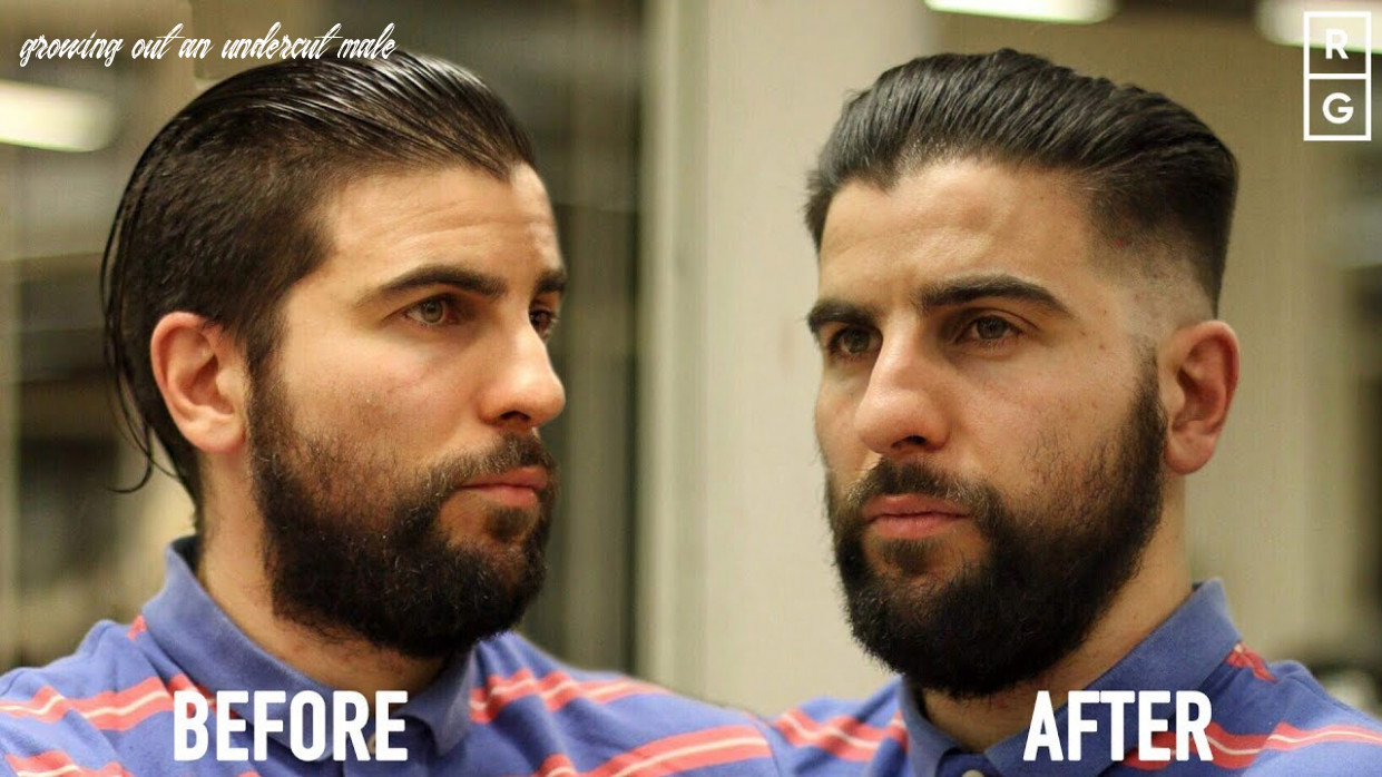 How to grow out a disconnected undercut | classic slick back undercut fade transformation growing out an undercut male