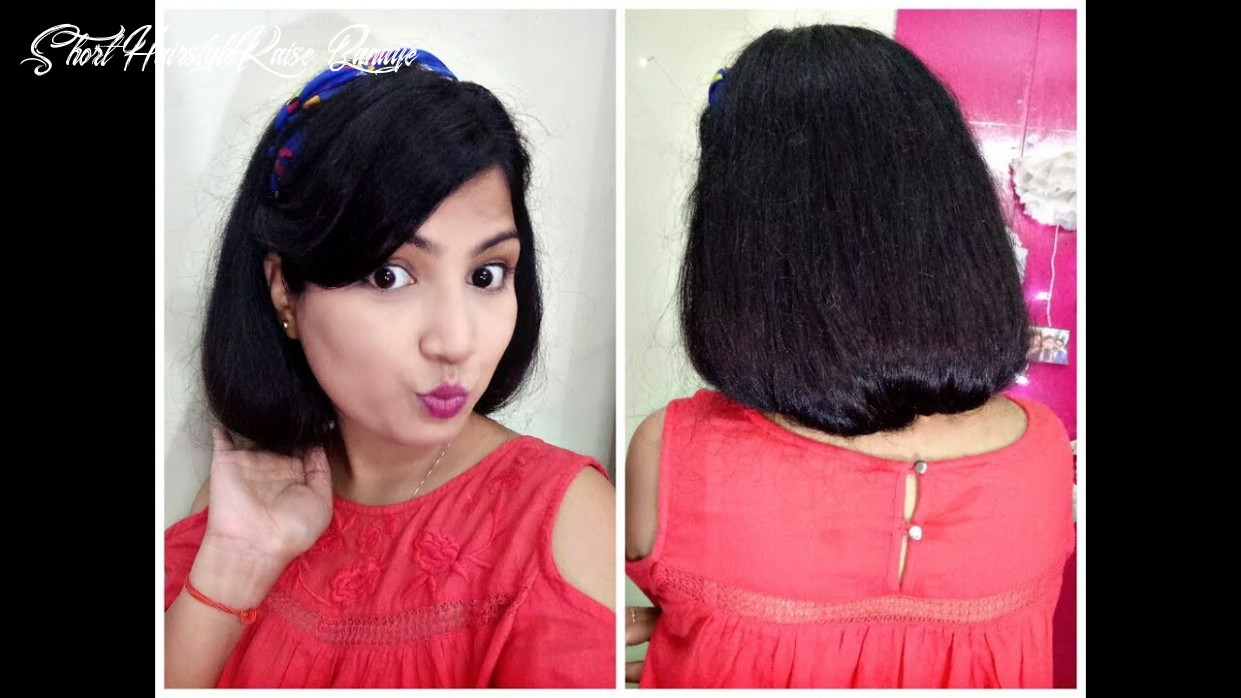 How to make a faux bob | how to fake short hair short hairstyle kaise banaye