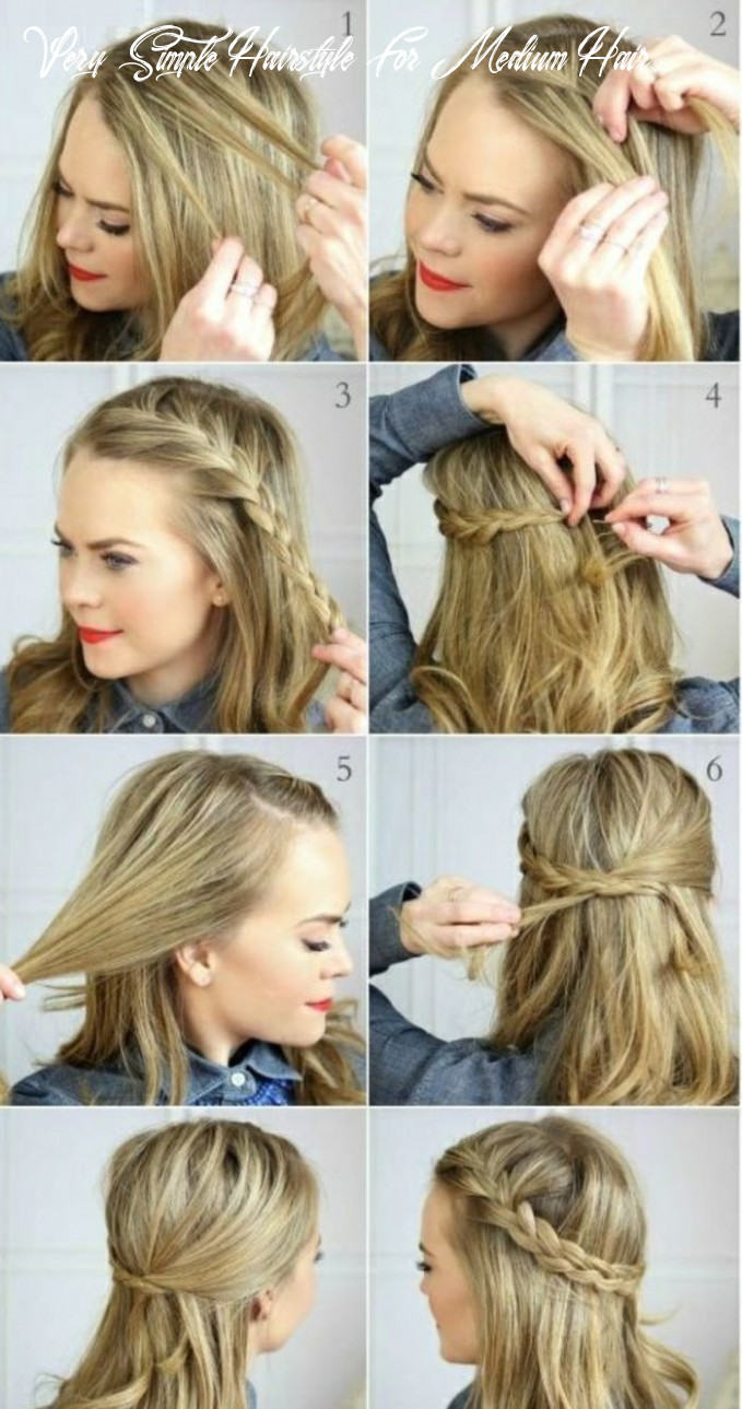 How to make a simple hairstyle medium length hair   fast
