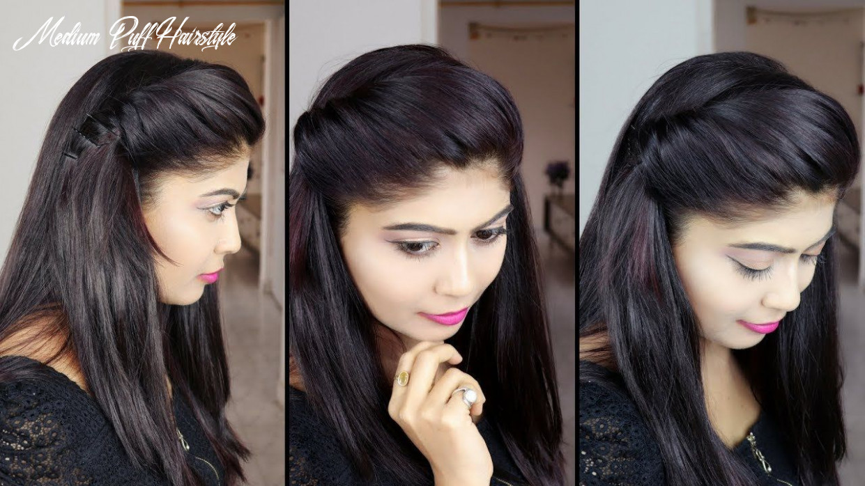 How to make side puff hairstyle   9 minute side puff hairstyle