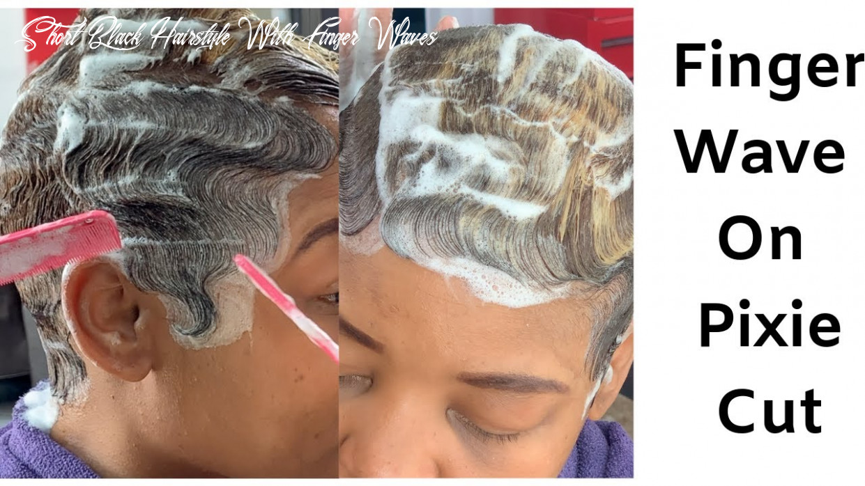 How to mold short relaxed hair| how to finger wave | black women hairstyles short black hairstyle with finger waves
