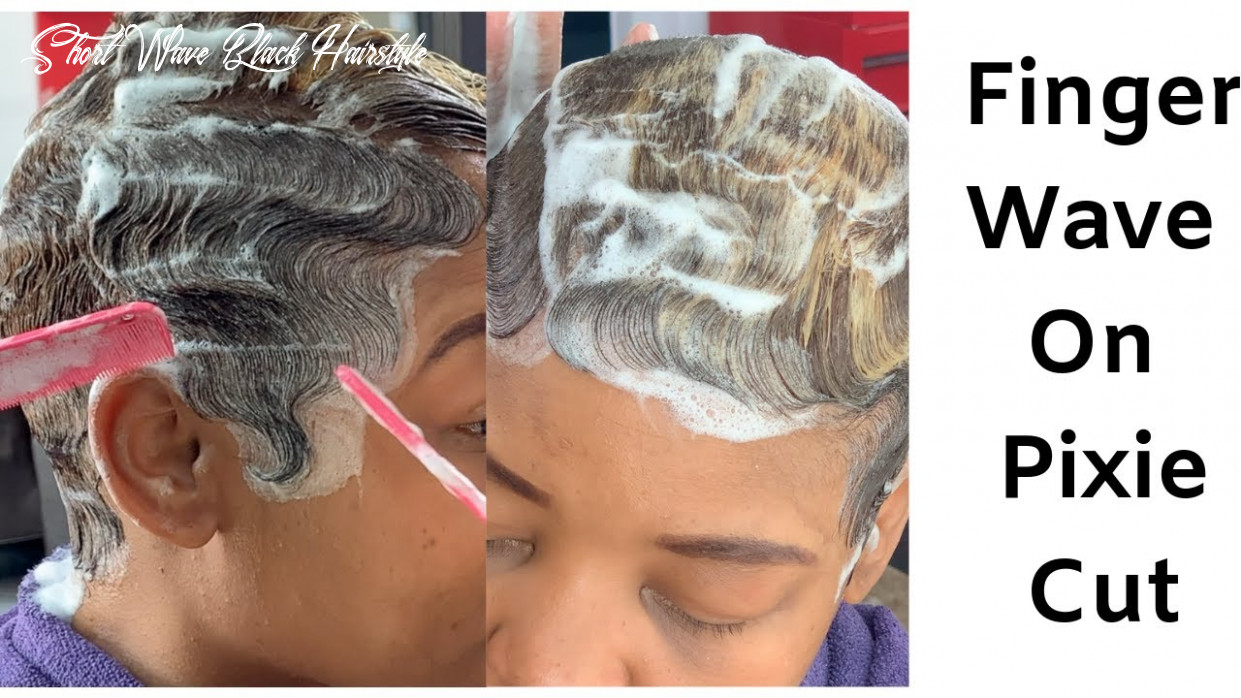 How To Mold Short Relaxed Hair  How To Finger Wave   Black Women Hairstyles