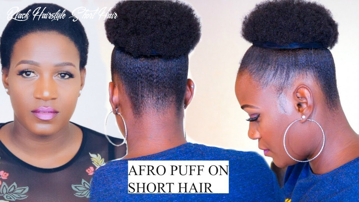 How to quick afro puff on short hair no extensions in 10 minutes black hairstyle short hair