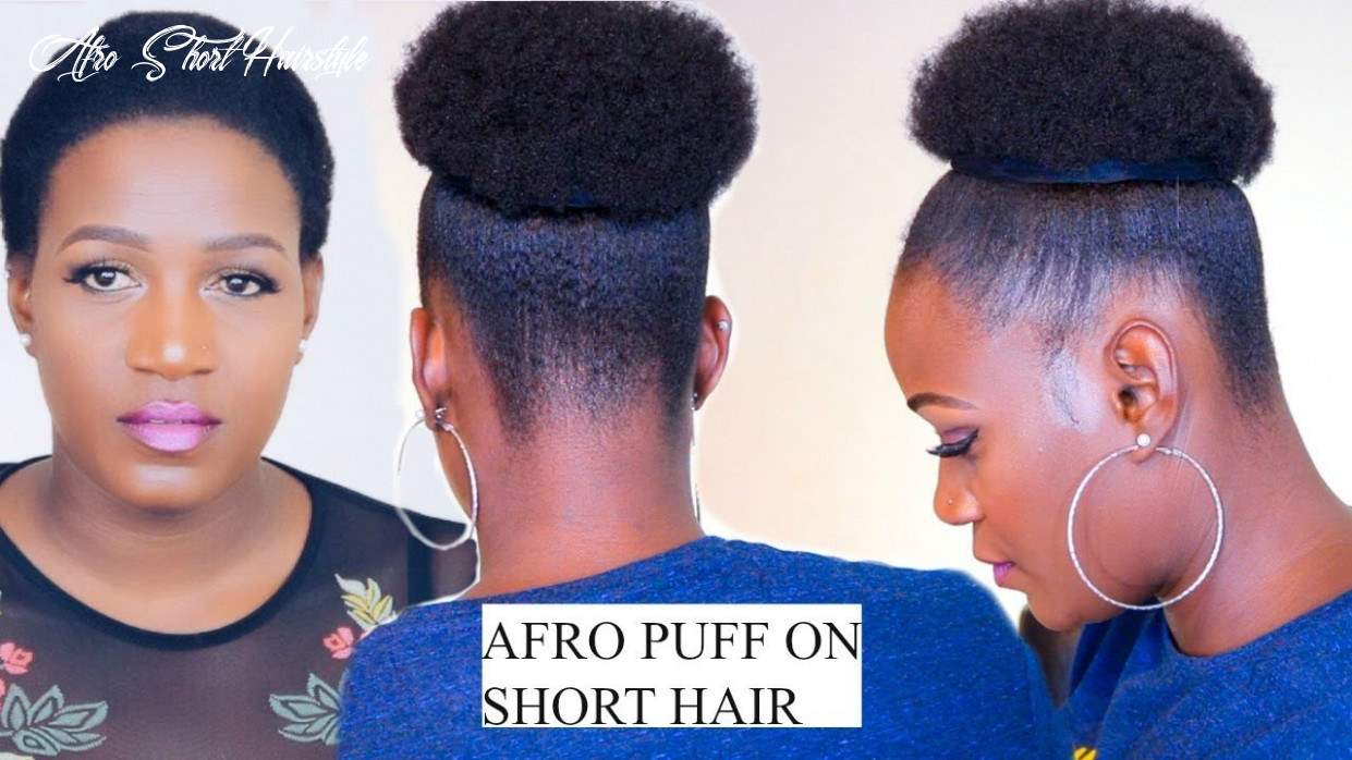 How to quick afro puff on short hair no extensions in 11 minutes afro short hairstyle