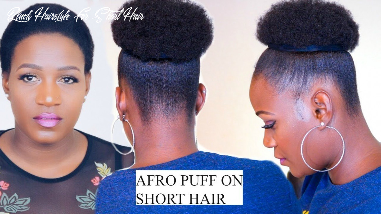 How to quick afro puff on short hair no extensions in 8 minutes black hairstyle for short hair