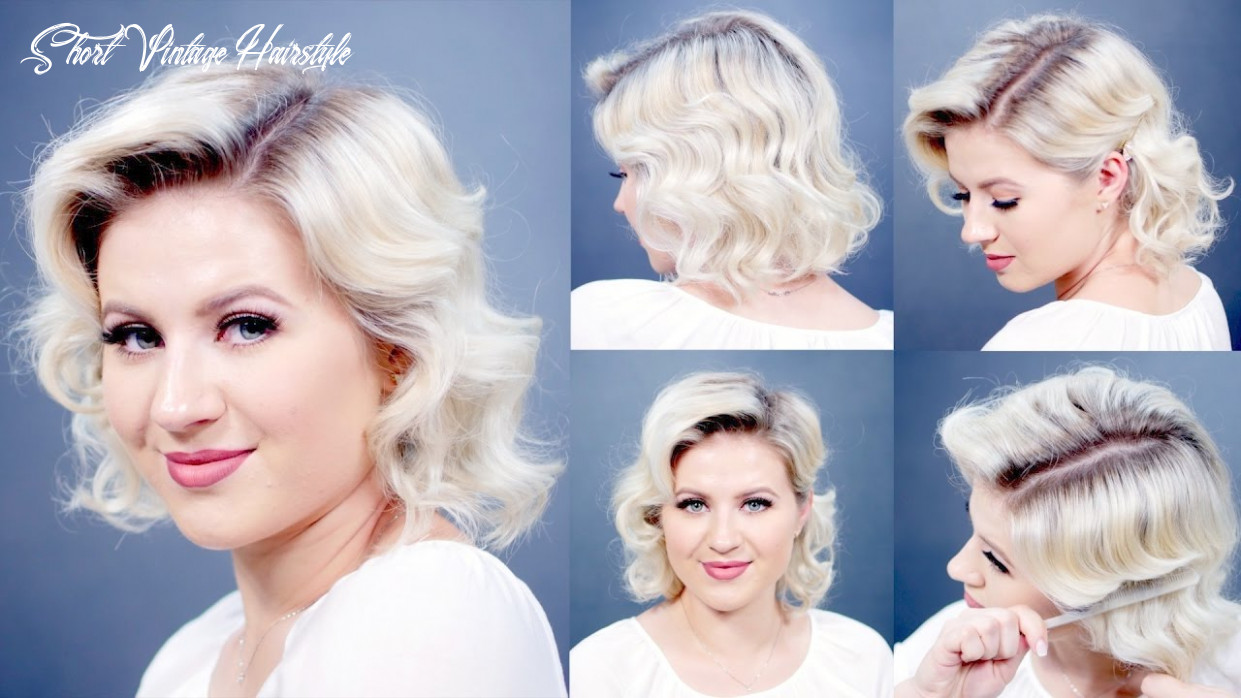 How to: retro finger waves short hairstyles | milabu short vintage hairstyle