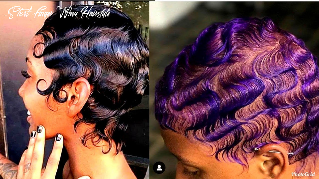 How to slay finger waves on natural hair 10 😻   short & long hair short finger wave hairstyle
