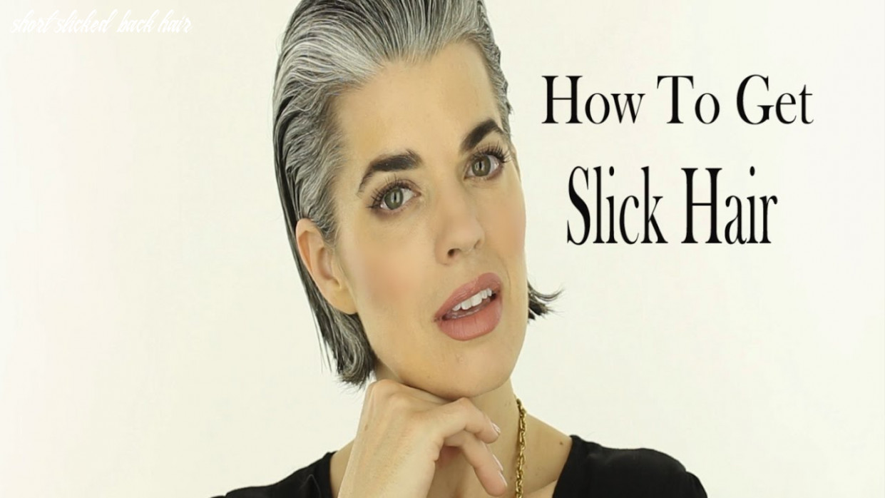 How to Slick Back a Short Bob Haircut | Gray Hair | Nikol Johnson