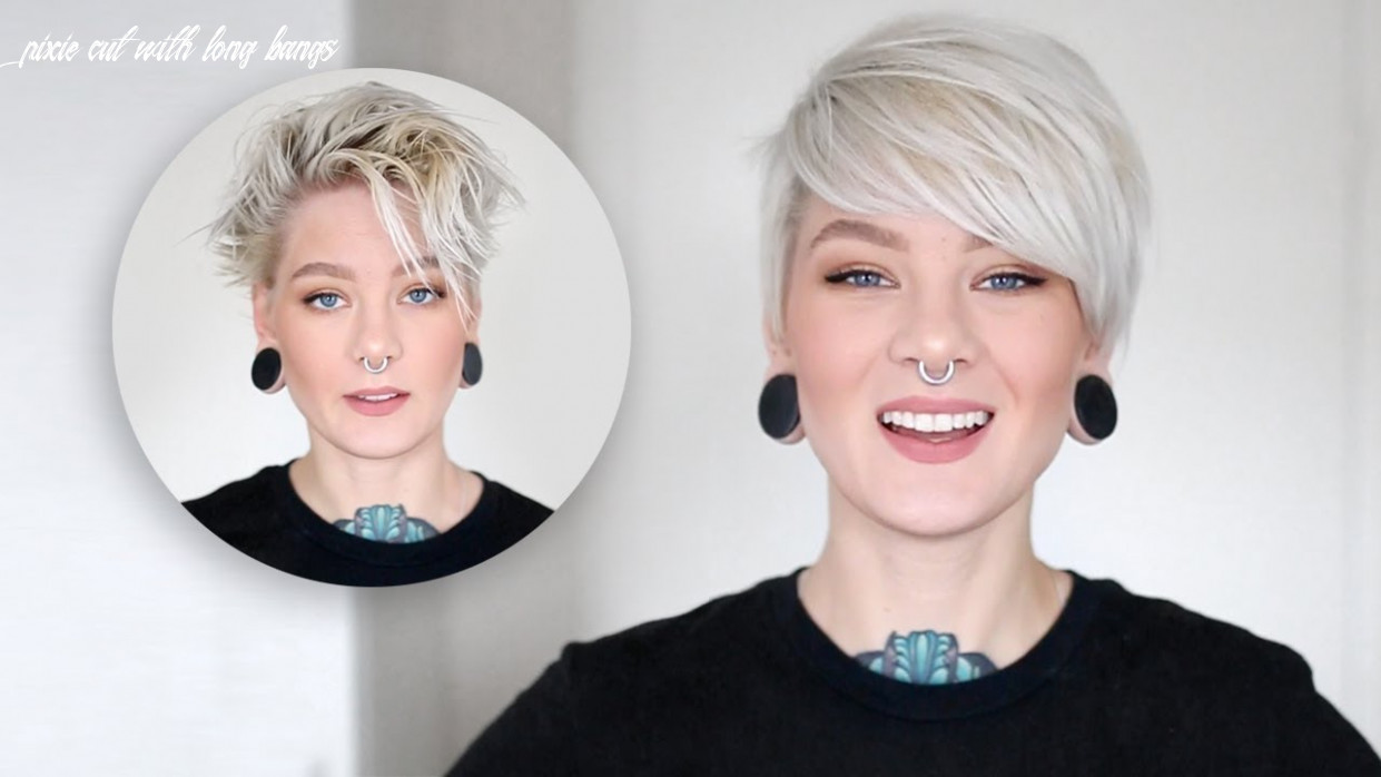How to style a pixie cut & side bangs in 12 easy steps pixie cut with long bangs