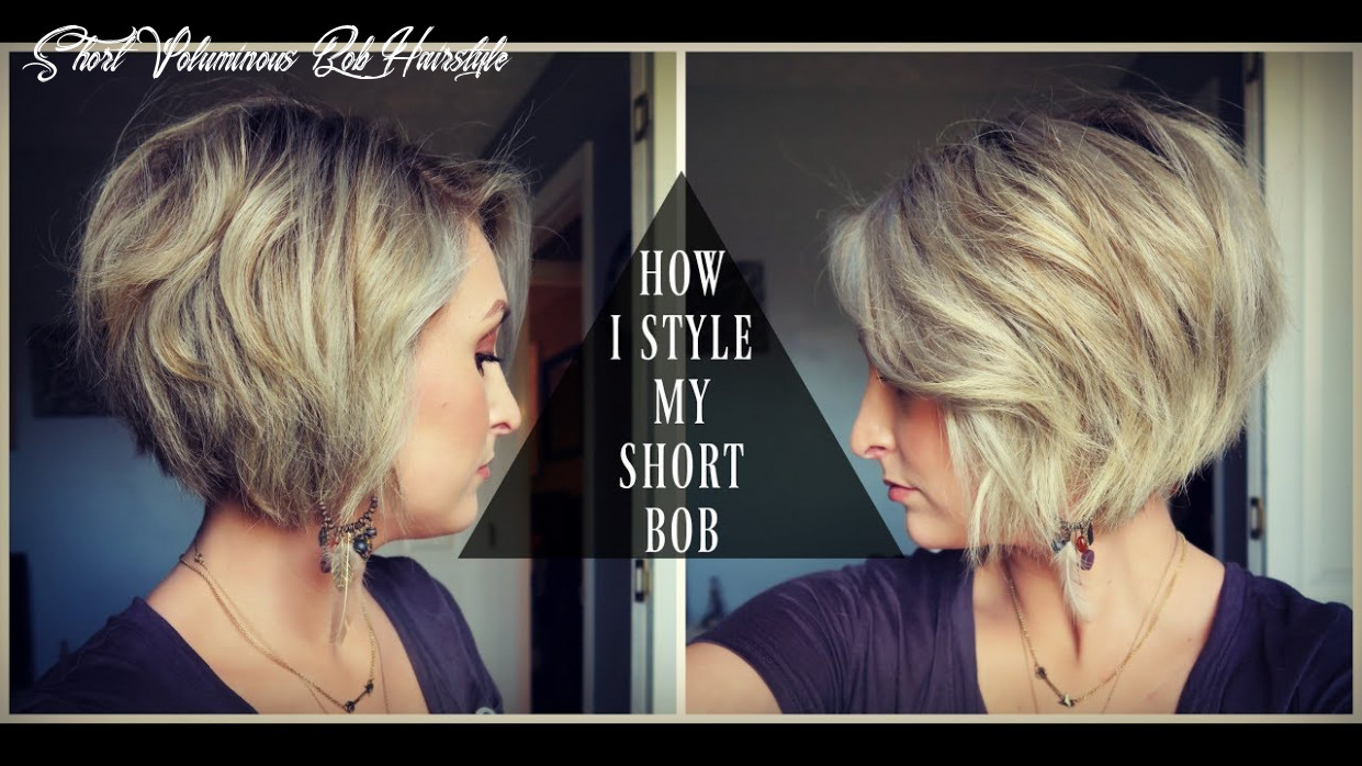 How to style a short bob! | textured & voluminous hair | summer whitfield short voluminous bob hairstyle