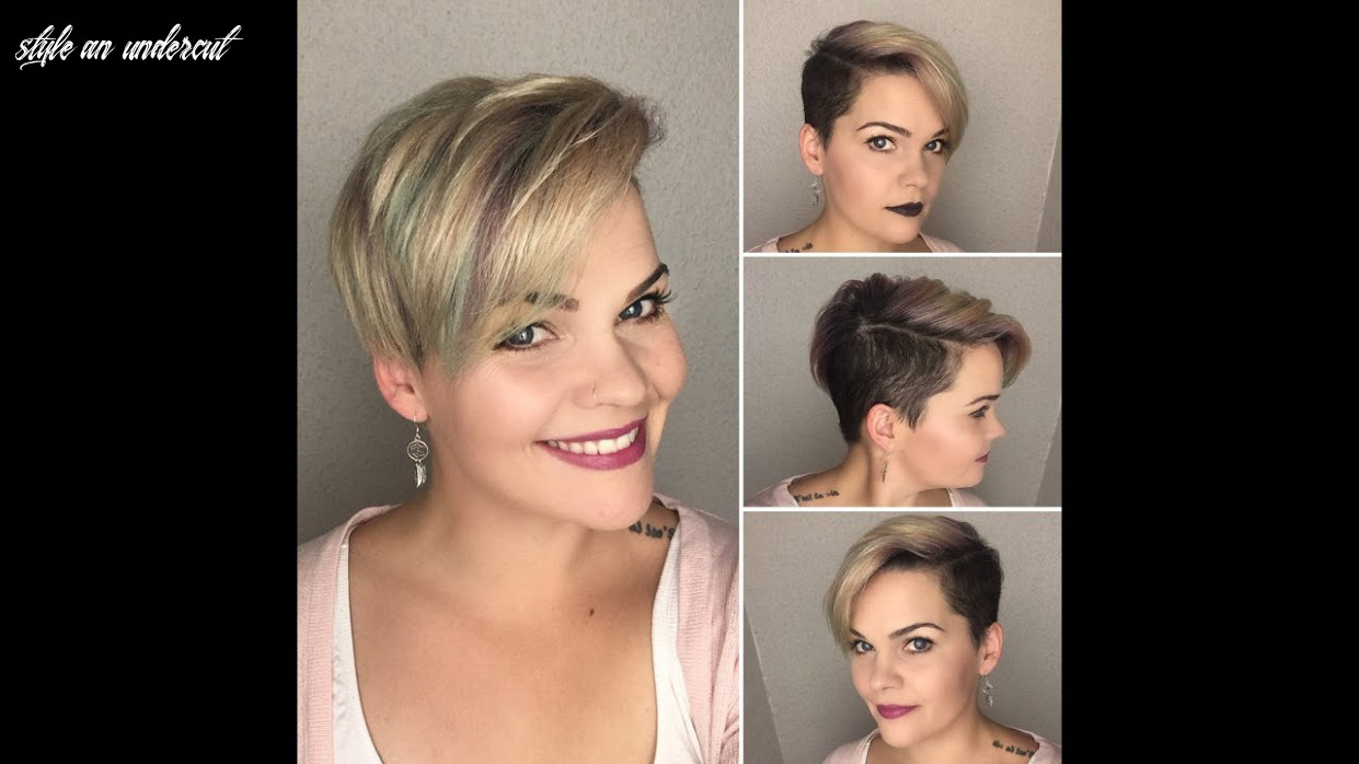 How to style a undercut pixie | design me hair & pinkpewter style an undercut