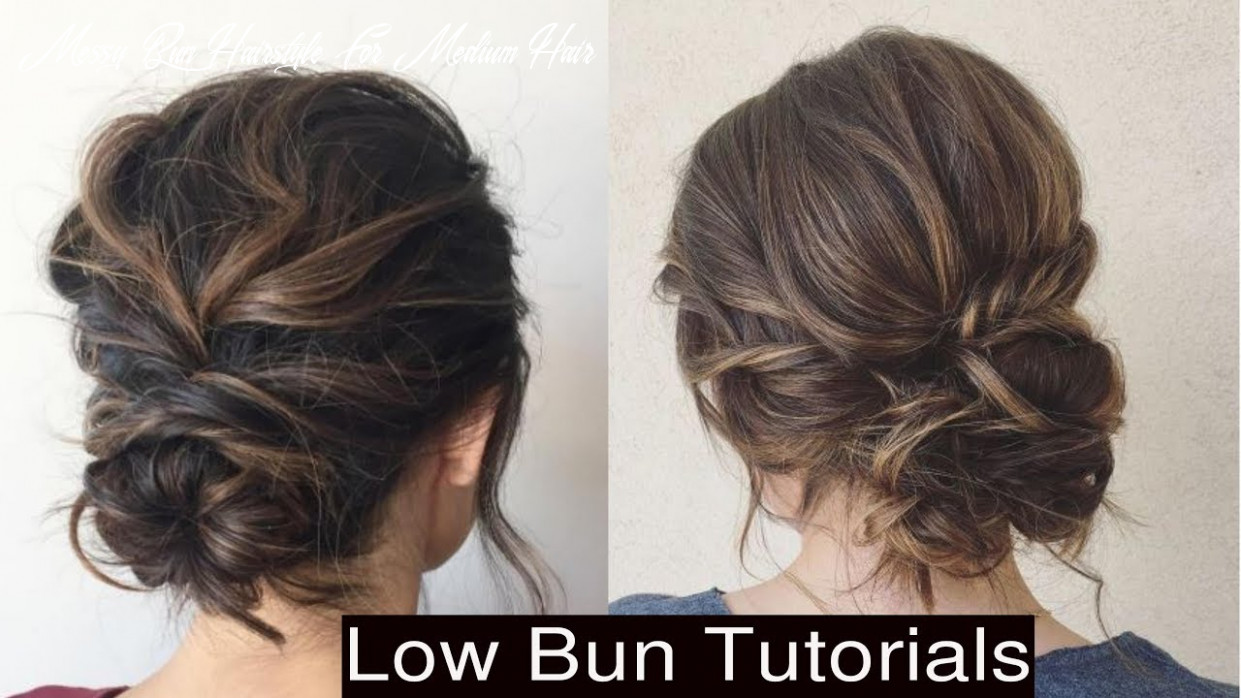 How to style cute low messy bun updo hairstyles messy bun hairstyle for medium hair