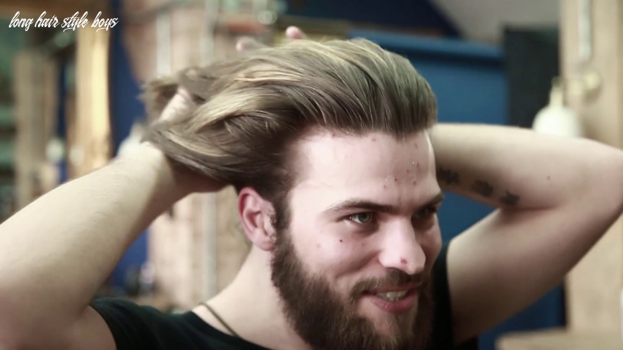 How to style long hair for men at home collar length sweep back long hair style boys