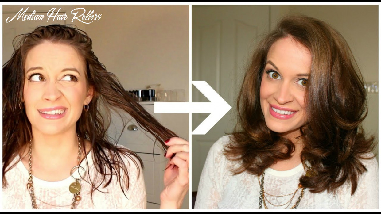 How to use hot rollers | hair tutorial medium hair rollers