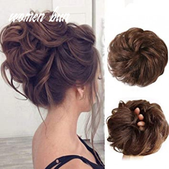 Human hair bun extensions messy hair scrunchies hair pieces for women hair donut updo ponytail women bun