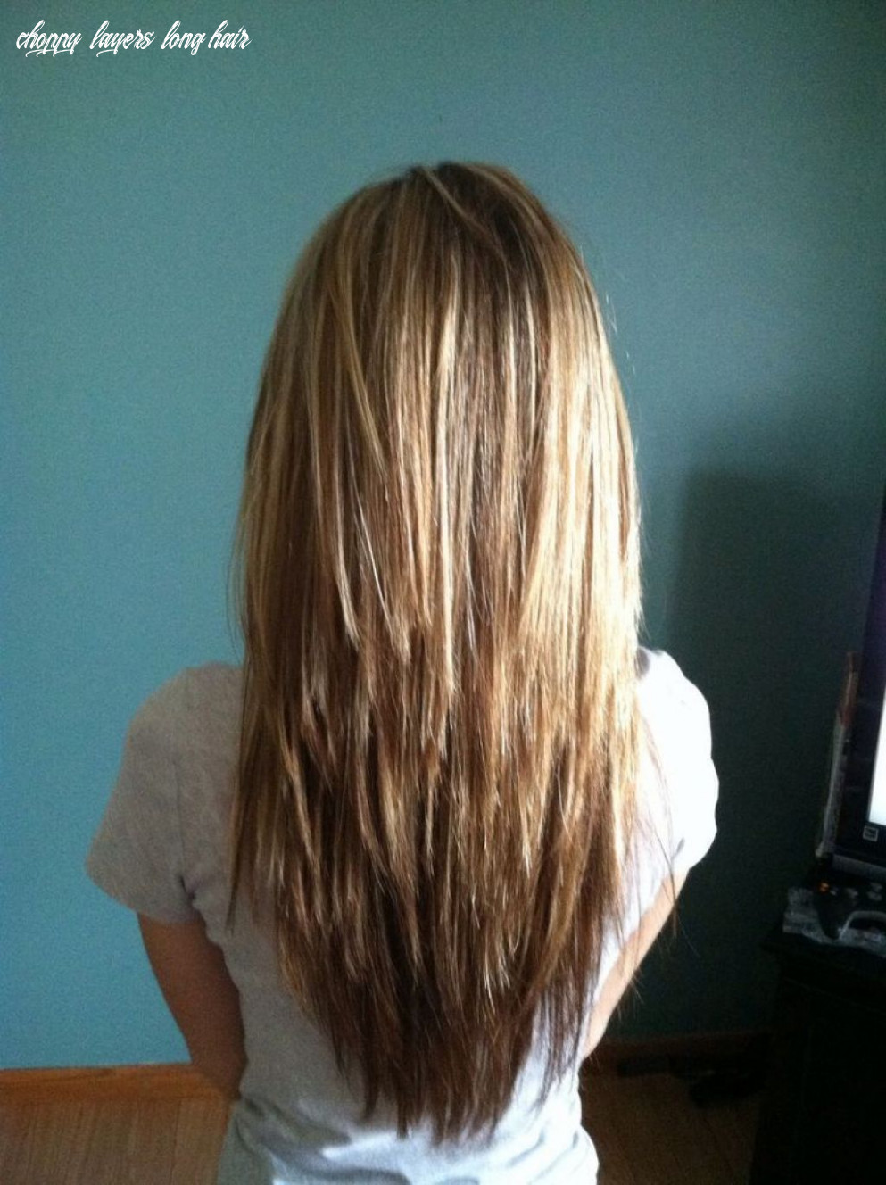 Image result for long hair with lots of choppy layers   long thin