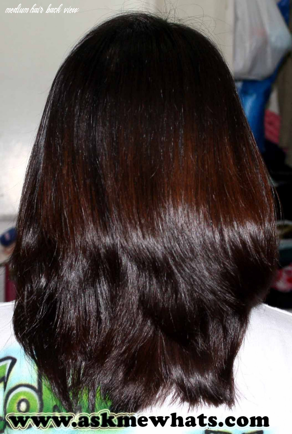 Image result for medium hair back view indian | mittellange