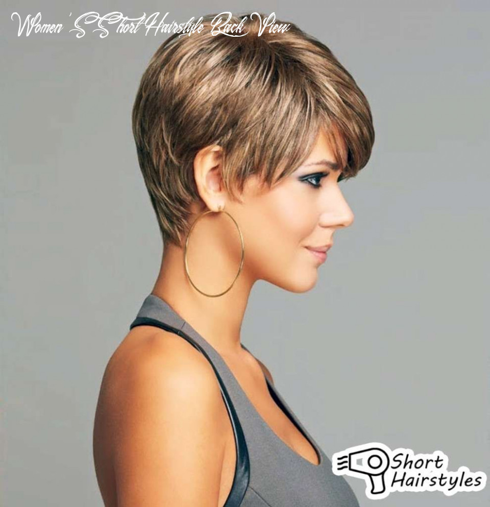 Image result for short haircuts for women over 9 back view hair