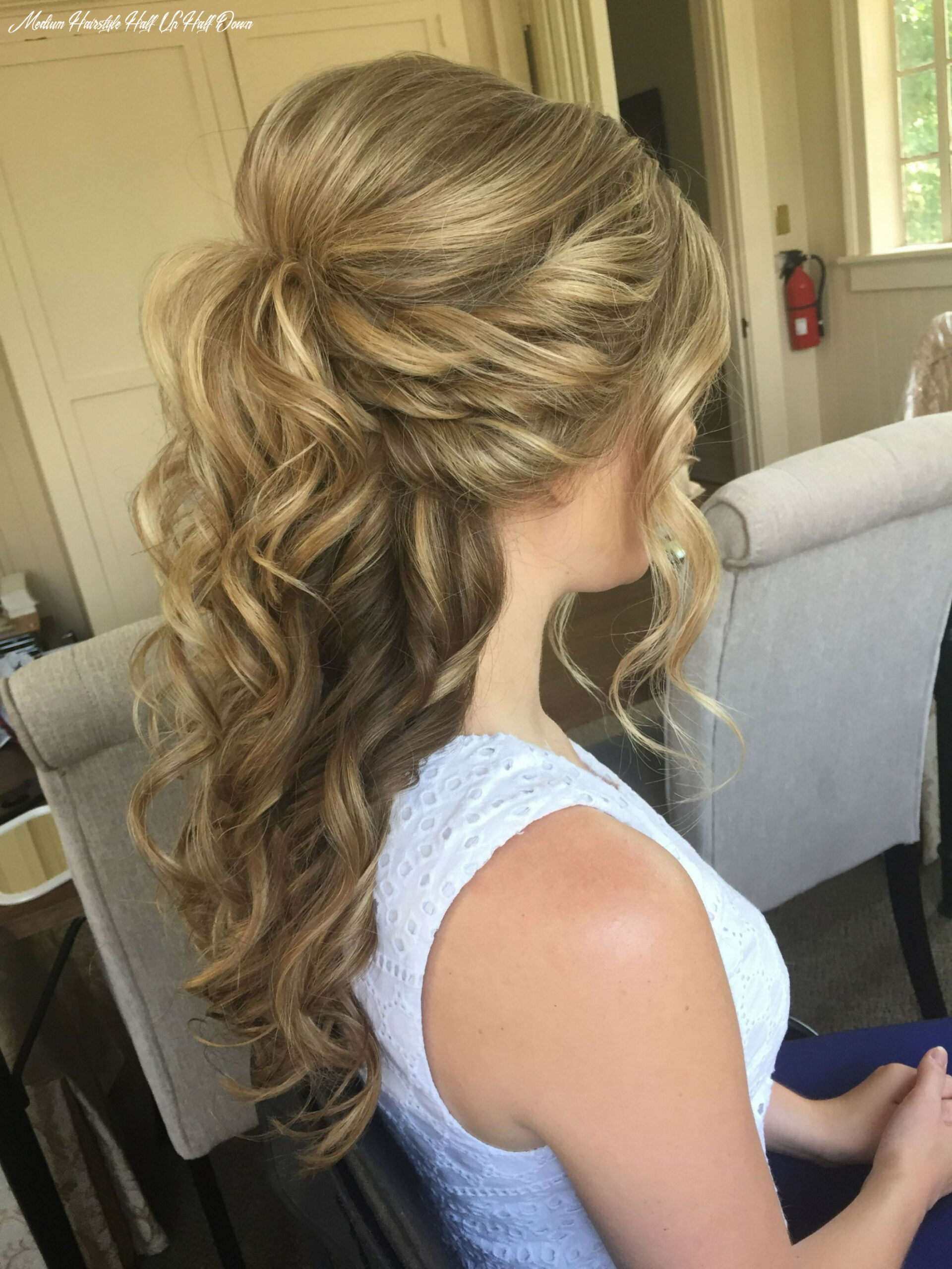 Image result for wedding hairstyles half up half down medium