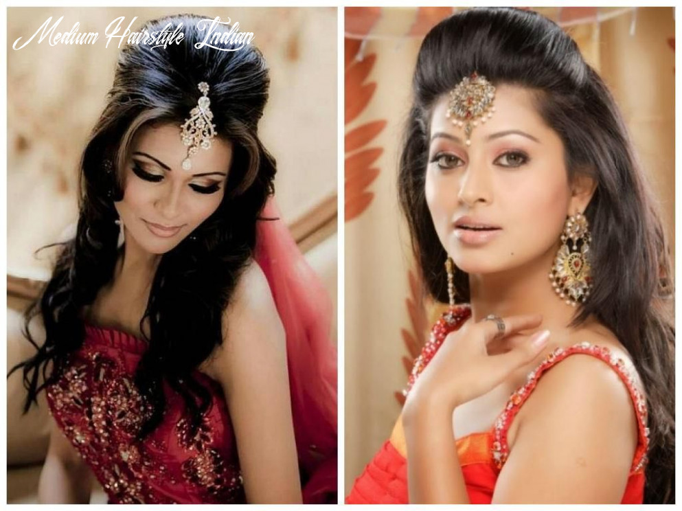 Indian hairstyle for girls | indian wedding hairstyles, wedding