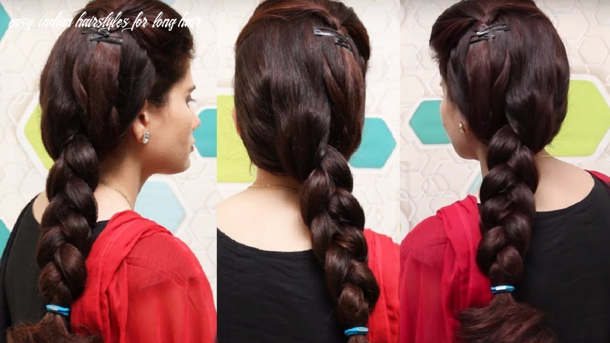 Indian traditional hairstyle for girls | easy braid hairstyle for