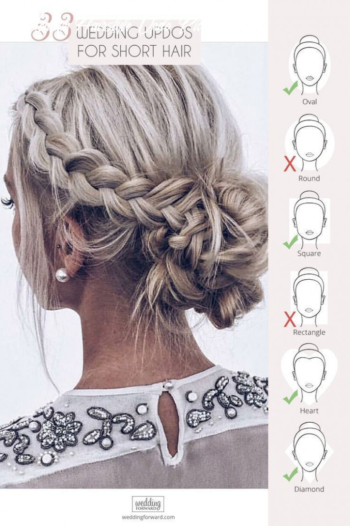 Inspiration for wedding updos for short hair length | short