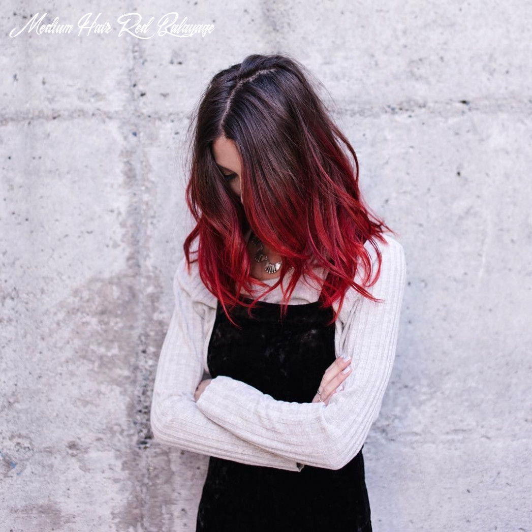 Instagram | red ombre hair, ombre hair color, dyed hair medium hair red balayage