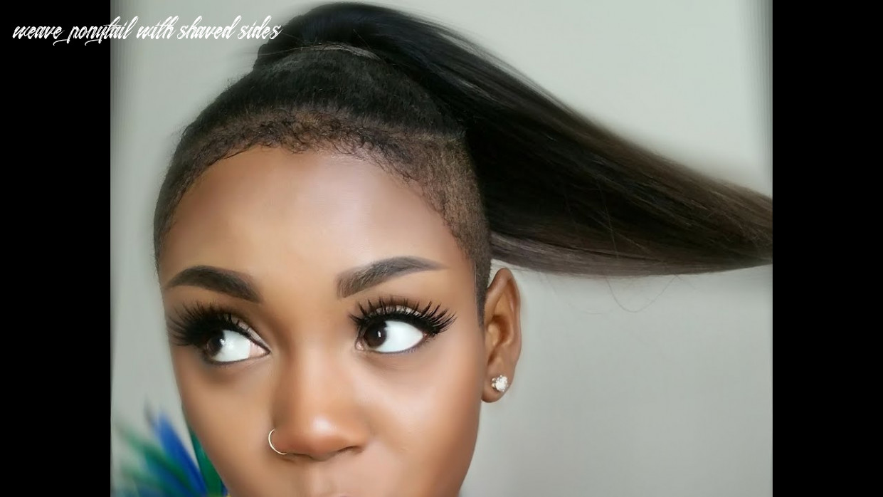Install your brazilian remy ponytail with shaved sides weave ponytail with shaved sides