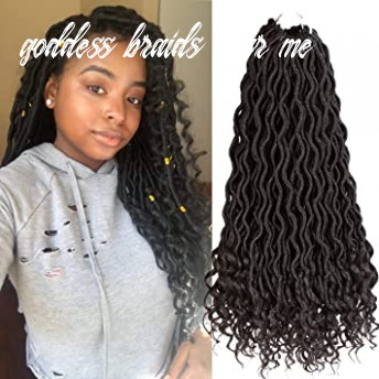 Karida 10Pcs/Lot Curly Goddess Faux Locs Crochet Hair Deep Wave Braiding  Hair With Curly Ends Crochet Goddess Locs Synthetic Braids Hair Extensions  ...