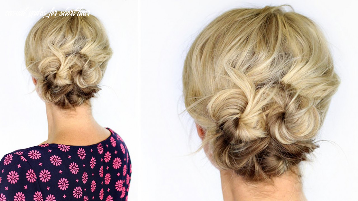 Knotted updo for short hair casual updos for short hair