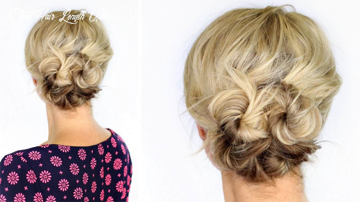 Knotted updo for short hair short hair length updos