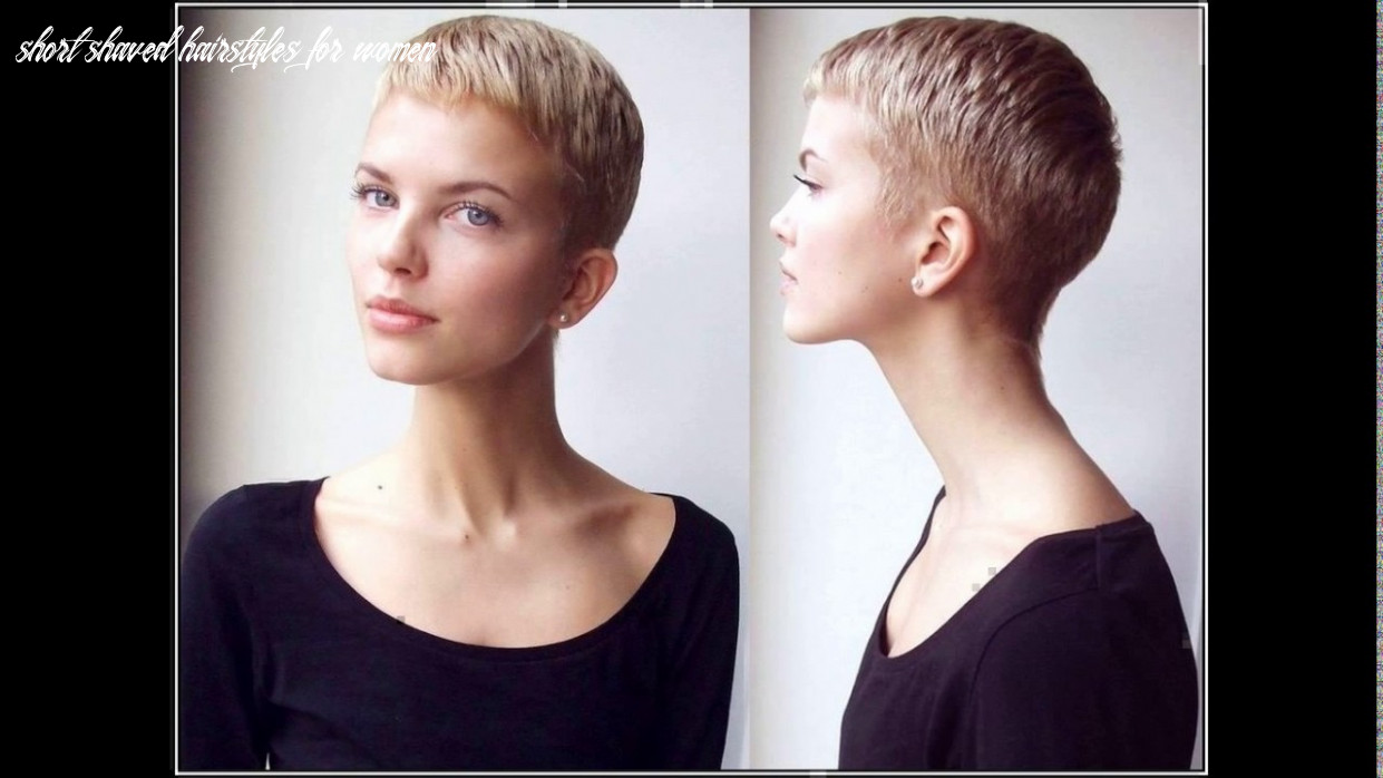 Ladies short haircut shaved nape youtube short shaved hairstyles for women