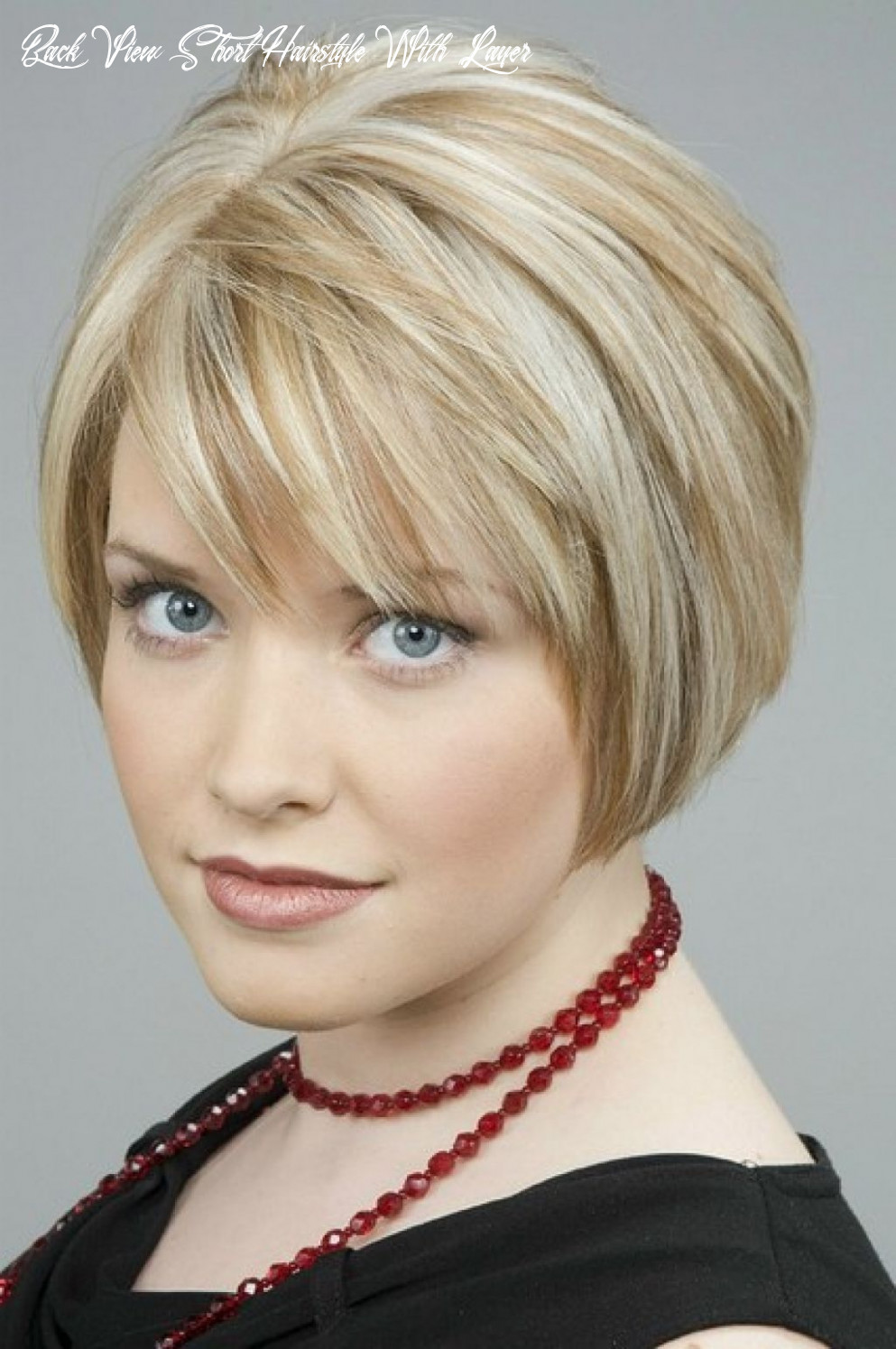 Layered bob hairstyle for women stacked bob hairstyles back view