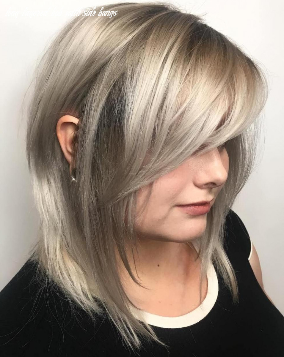 Layered bob with side bangs | find your perfect hair style long layered bob with side bangs