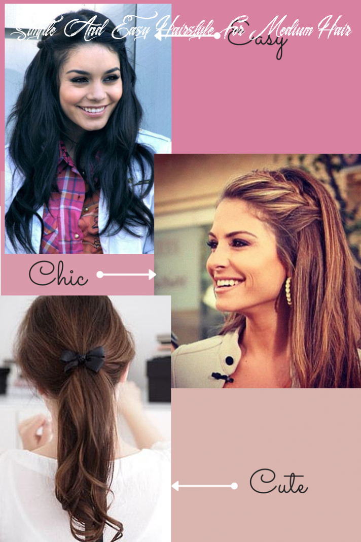 Lazy cute easy hairstyles for school simple and easy hairstyle for medium hair